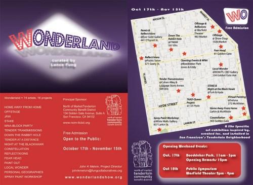 Wonderland art exhibition in the Tenderloin