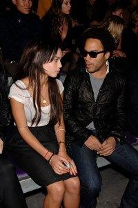 Zoe Kravitz and her father Lenny Kravitz