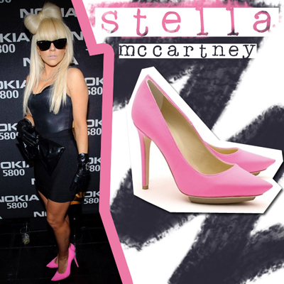 lady gaga pink heels stella maccartney