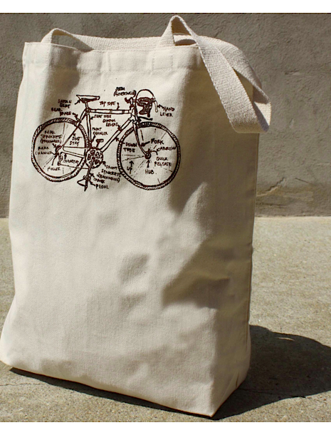 girls can tell bicycles rule tote bag
